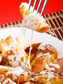 Най-вкусните запечени картофи на фурна със сирене моцарела - снимка на рецептата